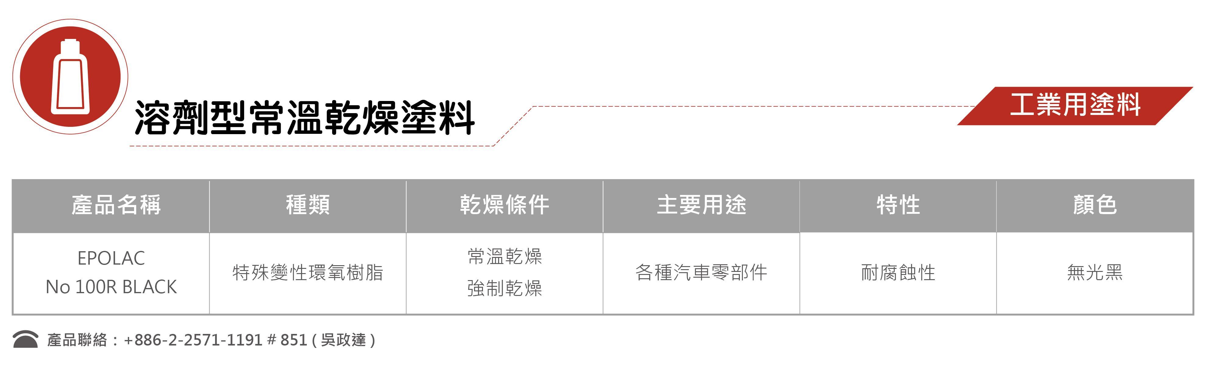6-1溶劑型常溫乾燥塗料