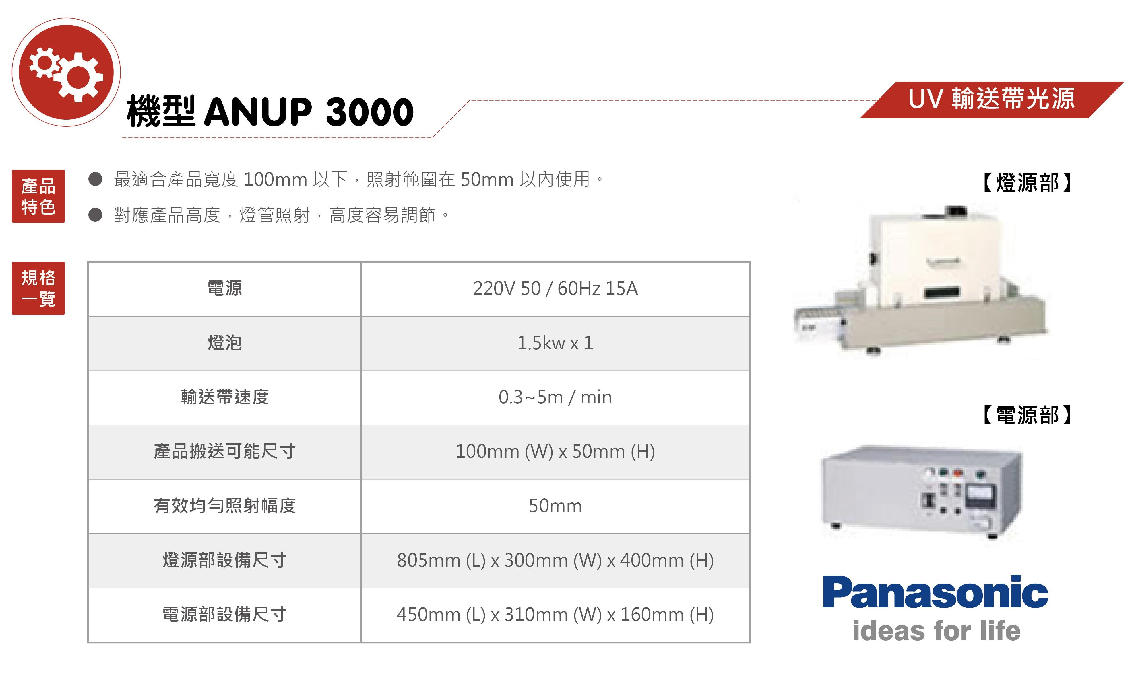 07-UV-輸送帶光源-機型ANUP-3000(UV點光源設備-輸送帶光源)_01